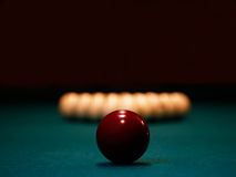 Pool balls. A few pool balls in a billiard table Stock Image