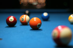 Pool balls. On table Royalty Free Stock Photography