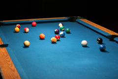 Pool balls. On table Stock Image