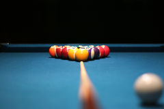 Pool balls. On table Stock Photography