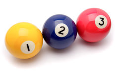 Pool balls. On white background Stock Photography