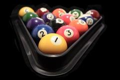 Pool balls. On black background Stock Photography