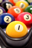 Pool balls. Closeup of colorful pool balls Royalty Free Stock Images