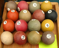 Pool balls. Numbered pool balls royalty free stock image