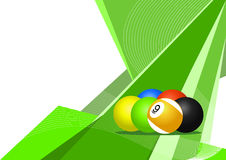 Pool balls, abstract design Stock Images