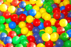 Pool with balls Royalty Free Stock Photo
