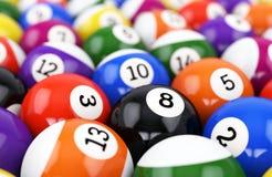 Pool balls background Stock Image