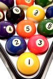 Pool balls closeup Stock Images