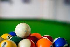 Pool balls colorful royalty free stock images