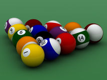 Pool balls hight quality Royalty Free Stock Images