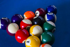 Pool balls. Line up in the triangle Stock Photography