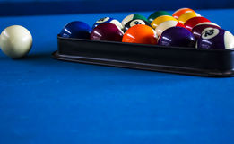 Pool balls. Line up in the triangle Royalty Free Stock Images