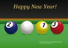 Pool balls. New year card Royalty Free Stock Photos