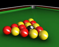 Pool balls on table Stock Photos