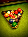 Pool Balls. On Pool table Royalty Free Stock Photos