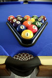 Pool balls on table. Pool balls on pool table Royalty Free Stock Image