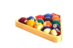 Pool Balls and Triangle Stock Photography