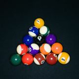 Pool balls in triangle Royalty Free Stock Images