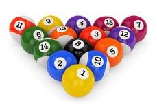 Pool balls triangle Stock Image