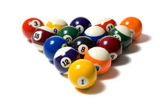 Pool balls on White Stock Photography