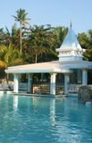 Pool Bar. A swim up bar in the Dominican Republic Royalty Free Stock Photo
