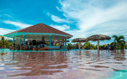 Pool bar in an all inclusive resort in Cuba Royalty Free Stock Images