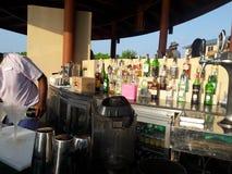 The pool bar. Pool bar at Centara Ras Fushi resort in maldives Stock Photos