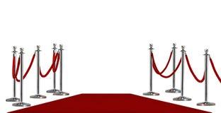 Pool-barricade en rood tapijt stock afbeelding