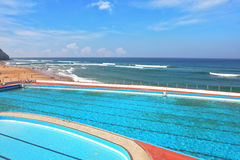 A  pool on the beach Atlantic coast Royalty Free Stock Photo