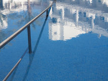 Pool at beach resort in Spain. Royalty Free Stock Photography