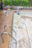 Pool beam repair work Royalty Free Stock Photo