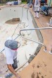 Pool beam repair work Royalty Free Stock Photography