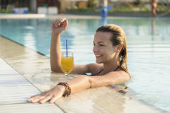 By the pool Royalty Free Stock Photo