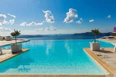 Pool and beautiful sea views Stock Images