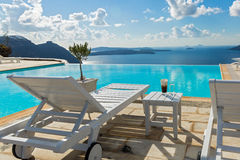 Pool and beautiful sea views Royalty Free Stock Images