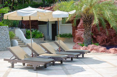 Pool Bed Stock Photo