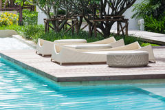 Pool bed Royalty Free Stock Image