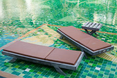 Pool bed. Beside pool water Royalty Free Stock Photography