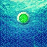 Pool-Beleuchtung unter Verwendung LED lizenzfreie abbildung
