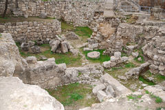 Pool of Bethesda. Ancient ruins of pools in the Muslim Quarter of Jerusalem Royalty Free Stock Image