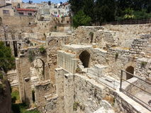 Pool of Bethesda in Jerusalem near St. Anne's Cathedral Royalty Free Stock Images