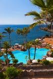 Pool bij het eiland van Tenerife - Kanarie Royalty-vrije Stock Afbeeldingen