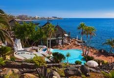 Pool bij het eiland van Tenerife - Kanarie Royalty-vrije Stock Foto's