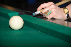 Pool Billard Stockbild