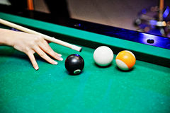 Pool Billard shoot Stock Image