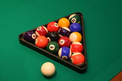 Pool billiard balls Stock Photography