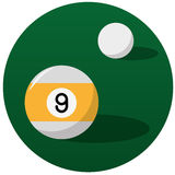 Pool billiard balls illustration Royalty Free Stock Image