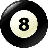 pool or billiard eight ball vector illustration Stock Photography