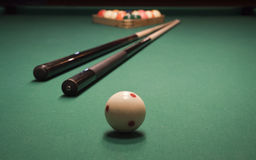 Pool (billiard) game Stock Image