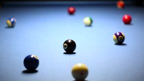 Pool billiard game stock footage